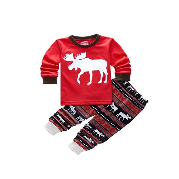 High quality men women kids christmas family matching outfit pajamas set deer sleepwear pyjamas nightwear leisurewear suit