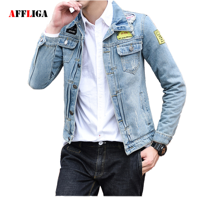 Aliexpress.com : Buy 2017 Men'S Denim Bomber Jacket Male Outwear ...