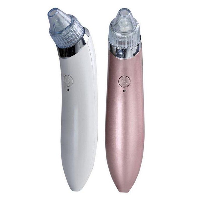 MOONBIFFY Elektrische Porenreiniger Akne Mitesser Entferner Hautpflegegerät Poren Vakuumextraktion USB Wiederaufladbare Comedo Saug