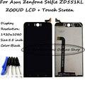 Черный 5.5 дюймов 1920x1080 Для Asus Zenfone Селфи ZD551KL Z00UD жк-Экран + Сенсорная Панель Планшета Стекло ассамблея + инструменты