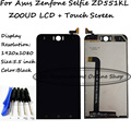 Black 5.5 inch 1920x1080 For Asus Zenfone Selfie ZD551KL Z00UD Lcd Display Screen + Touch Panel Digitizer Glass assembly + Tools