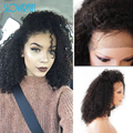 Short Afro Kinky Curly Wigs Brazilian Full Lace Human Hair Wigs Natural Black Color Virgin Hair Lace Front Wigs For Black Women