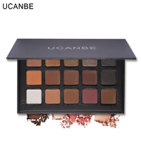 UCANBE Shimmer Matte Natural Fashion Eye Shadow Make Up Glitter Eyeshadow Pigment Cosmetics Set 15 Colors Eye Makeup Palette 1PC