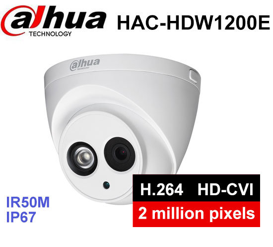 Dahua HAC-HDW1200E security Camera 1/2.7 cmos 2Megapixel IR 30M IP67 DH-HAC-HDW1200E outdoor HDCVI camera dahua hdcvi 1080p bullet camera 1 2 72megapixel cmos 1080p ir 80m ip67 hac hfw1200d security camera dh hac hfw1200d camera