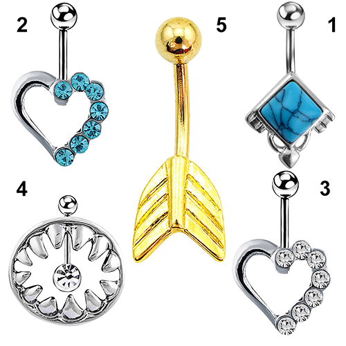 HTB1qj3nNFXXXXa5XVXXq6xXFXXXP Stylish Rhinestone Body Piercing Belly Button Bar Ring Jewelry - 10 Styles