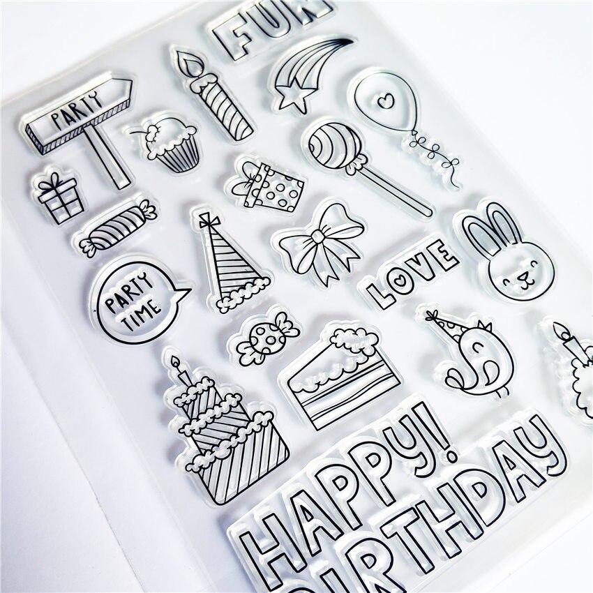 Горячая Распродажа, подарок на день рождения, прозрачные штампы/силиконовые уплотнения, штамп для DIY скрапбукинга, фотоальбома/изготовлени...