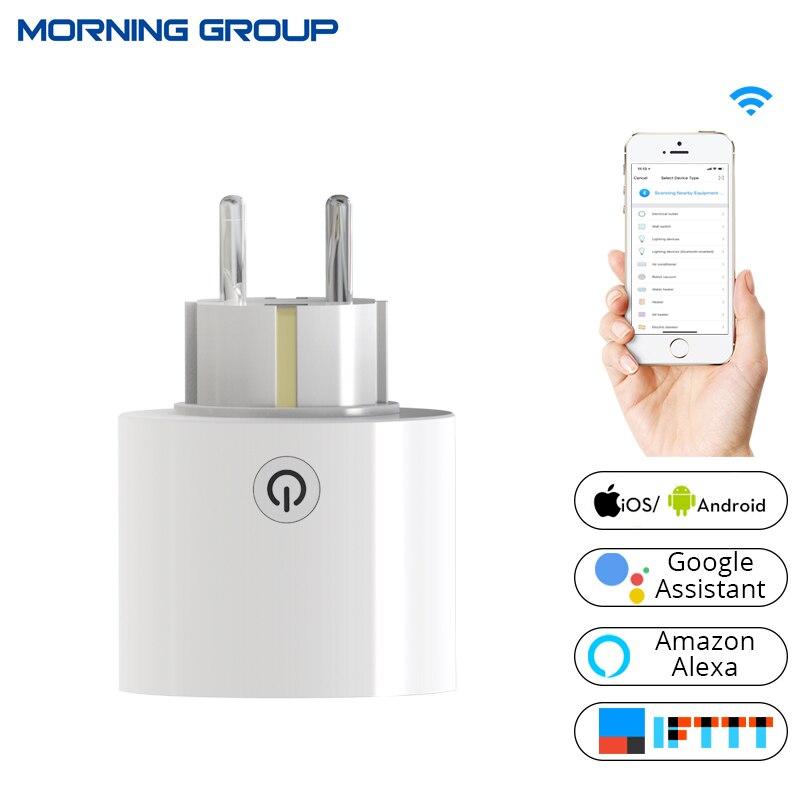 Wi-Fi умная розетка Мощность Plug Универсальный ЕС Стандартный Outlet работы с Amazon Alexa и Google дома для Умный дом