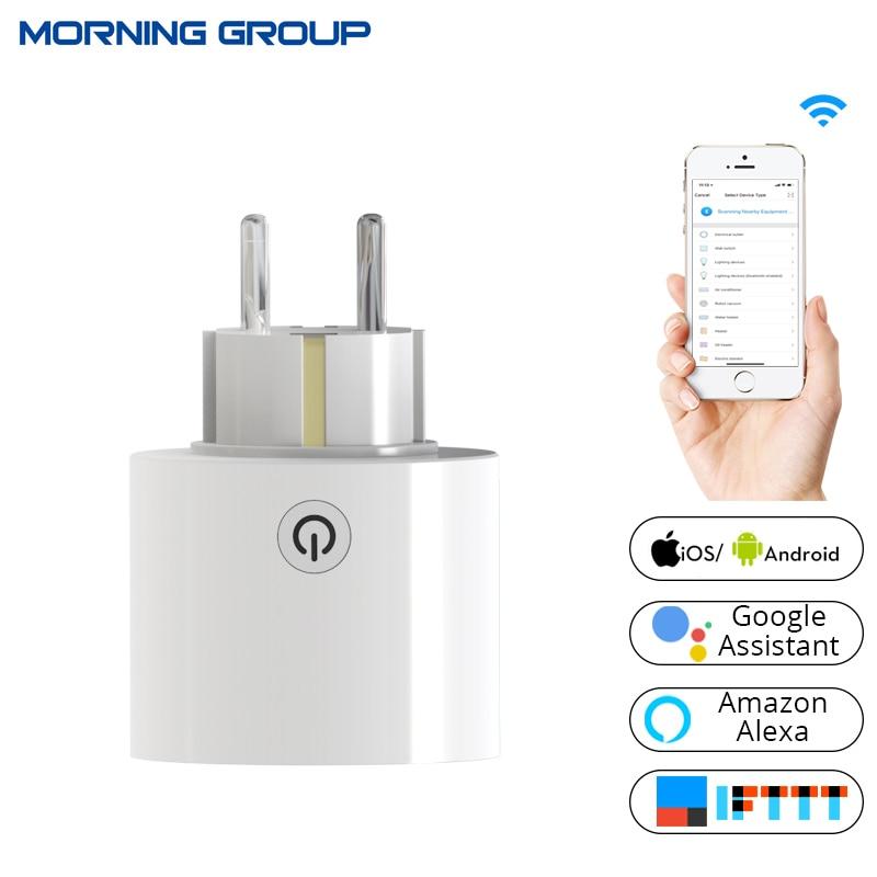 WiFi smart socket Plug Power UE universal enchufe estándar trabajar con Amazon Alexa y Google hogar para Casas inteligentes