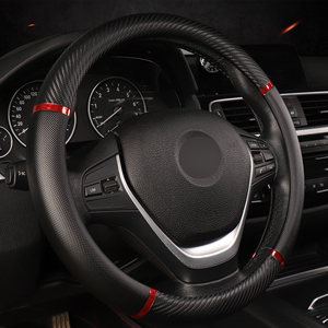 Image 3 - DERMAY Universal Car Steering Wheel Cover Artificial Leather 5 Colors Comfortable Non slip Automobile Steering Wheel Car Styling