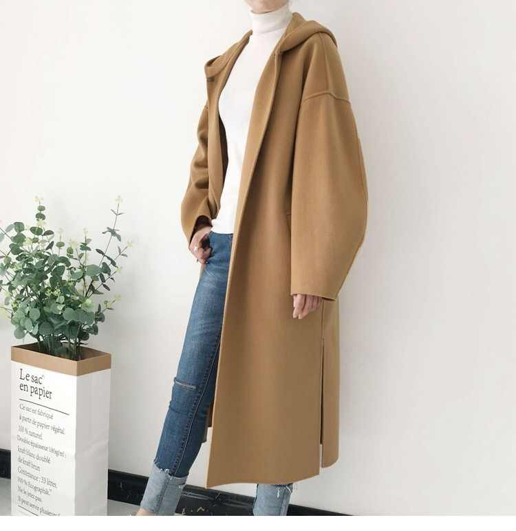 2018 autumn and winter women fashion wool coat blends
