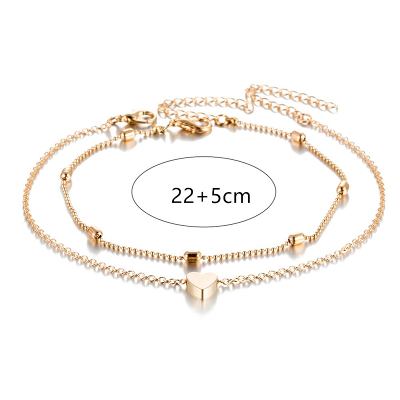 QCOOLJLY Butterfly Pendant Anklets Foot Chain Summer Yoga Beach Leg Bracelet Handmade Anklet Rose Gold Silver Color Jewelry 20