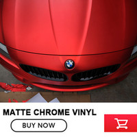 Matte Chrome Crimson Red Velvet Golden Yellow Blue Vinyl Wrapping Film Car Wraps Sticker Car Sticker