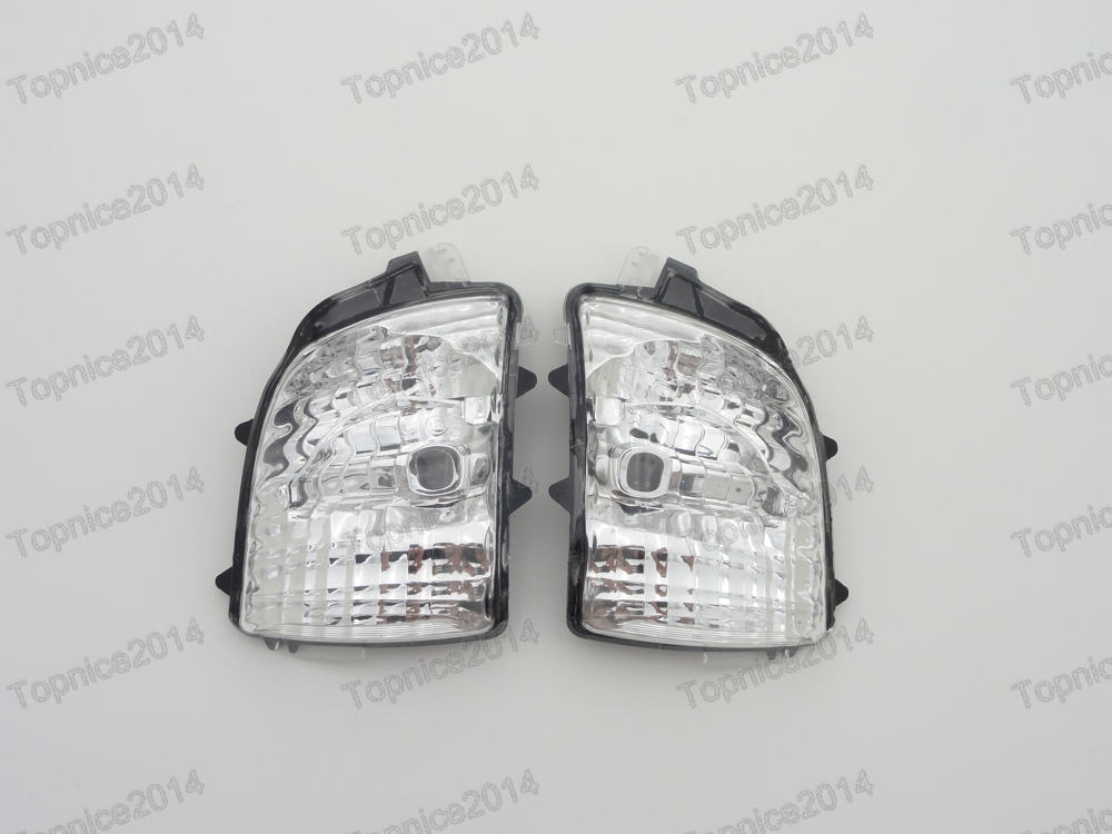 1Pair Side Rearview Mirror Indicator Lamp Turn Signal Lights For Volvo XC90 2007- 1pair led side maker lights for jeeep wrangler amber front fender flares parking turn lamp bulb indicator lens