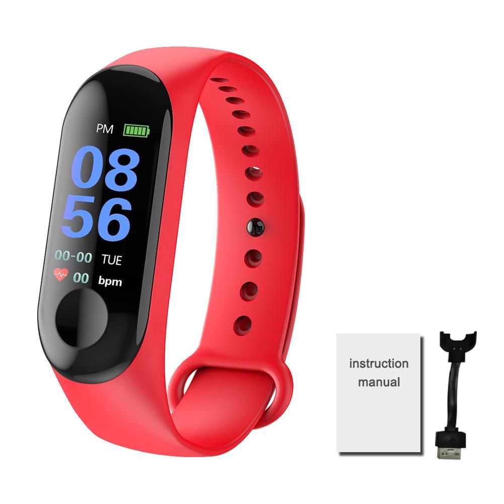 M3 Fitness Tracker Waterproof Pedometer Color Screen Smart Bracelet With Heart Rate Blood Pressure Monitor Smart Watch Tracker