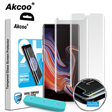 Akcoo 2019 New UV liquid glass for Samsung galaxy note 8 screen protector case friendly film for note 9 full cover protector
