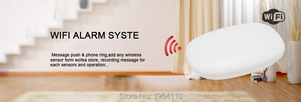 Super Mini WIFI Home Security Alarm System DIY Kit IOSAndroid Smart Phone App PIR Main Panel DoorWindow Sensor Burglar Alarm_F1