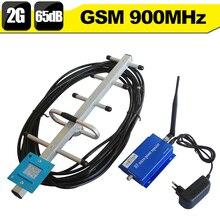 GSM Booster GSM 900 Teléfono Celular Repetidor de Señal GSM 900 mhz Móvil Amplificador de Señal Celular Booster 65dB de Ganancia Set + Antena Yagi