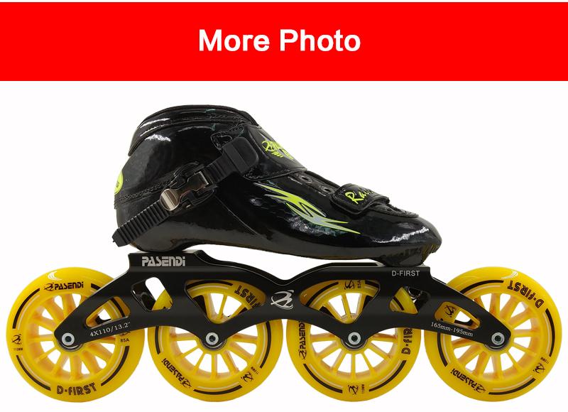 c8c9b8657ae Professionele Schaatsen Schoenen Mannen/Vrouwen Laarzen Carbon Fbiber Zwart  Rolschaatsen Kind Inline Skate 4 Grote Ronde PatiensUSD 288.64/pair