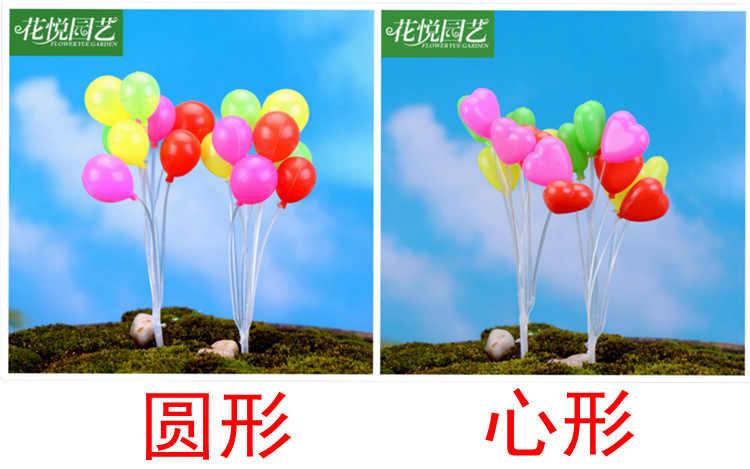 2 комплекта мох микро Пейзаж украшения мини воздушный шар съемки реквизит украшения дома Материал ювелирные изделия