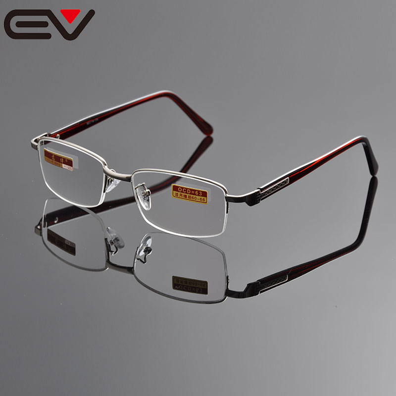 Reading glasses diopter semi rimless reading glasses men round reading glasses with case +1.0 +1.5 +2.0 +2.5 +3.0 +3.5+4.0EV1097