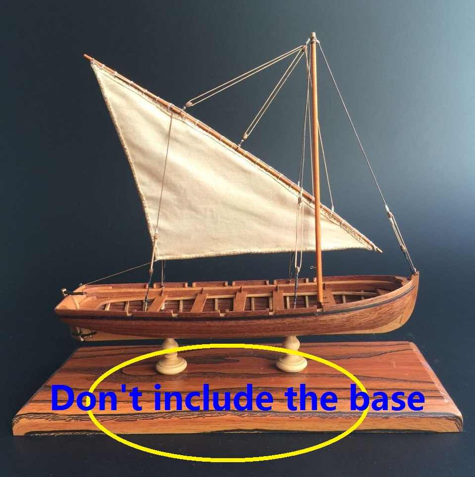 NIDALE model Free shipping Scale 1/35 Calssic sail boat model kit the rib boat model