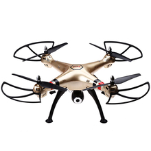 Gold Syma X8HC Drone 2.4G 4CH 6-Axis Gyro RC Quadcopter 360 Degree Roll LED Light Racing Fly Drone Remote Control Helicopter