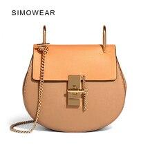 2016 Hot Sale Popular Fashion Brand Design Women Genuine Leather Cloe Bag High Quality Real Cowskin Shoulder Bag Small Chain Bag