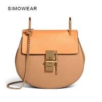 2016 Hot Sale Popular Fashion Brand Design Women Genuine Leather Cloe Bag High Quality Real Cowskin