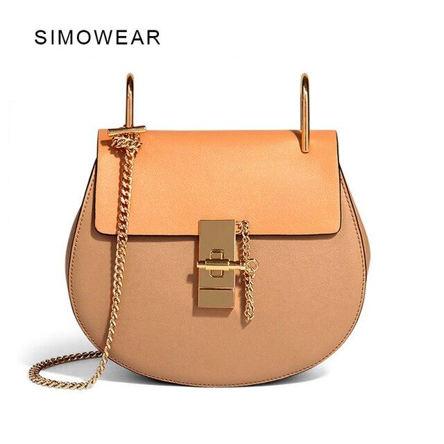 2016 offre spéciale Populaire Marque De Mode Design Femmes sac en cuir véritable qualité supérieure Réel Cowskin sac à bandoulière Petite Chaîne Sac