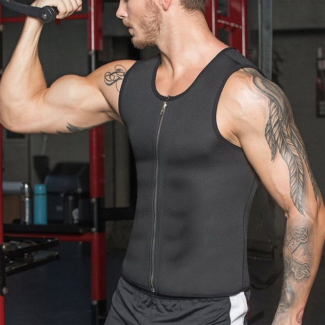 Rubber Men's Sports Belt Corset Vest Mens Body Shapers Vest Slimming Fitness Waist Tops Sweat Shapwear Shirts Plus Size S-4XL 1