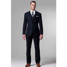 wedding tuxedo dark blue for groom suit high quality custom made suit prom suits 2017 3 piece suits men