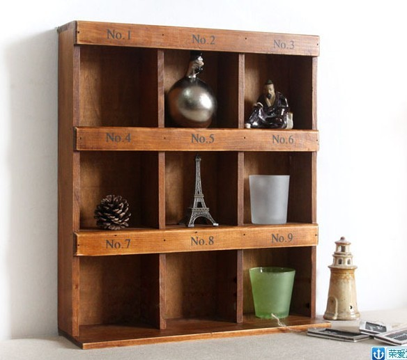 Vintage home decor reveals ark receive wooden decorative for Fancy wood bookshelves