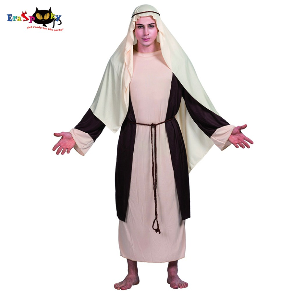 Men Saint Joseph Arabian Businessman Merchant Costume Carnival Party Adult Male Cosplay Outfits Clothing Halloween Costumes