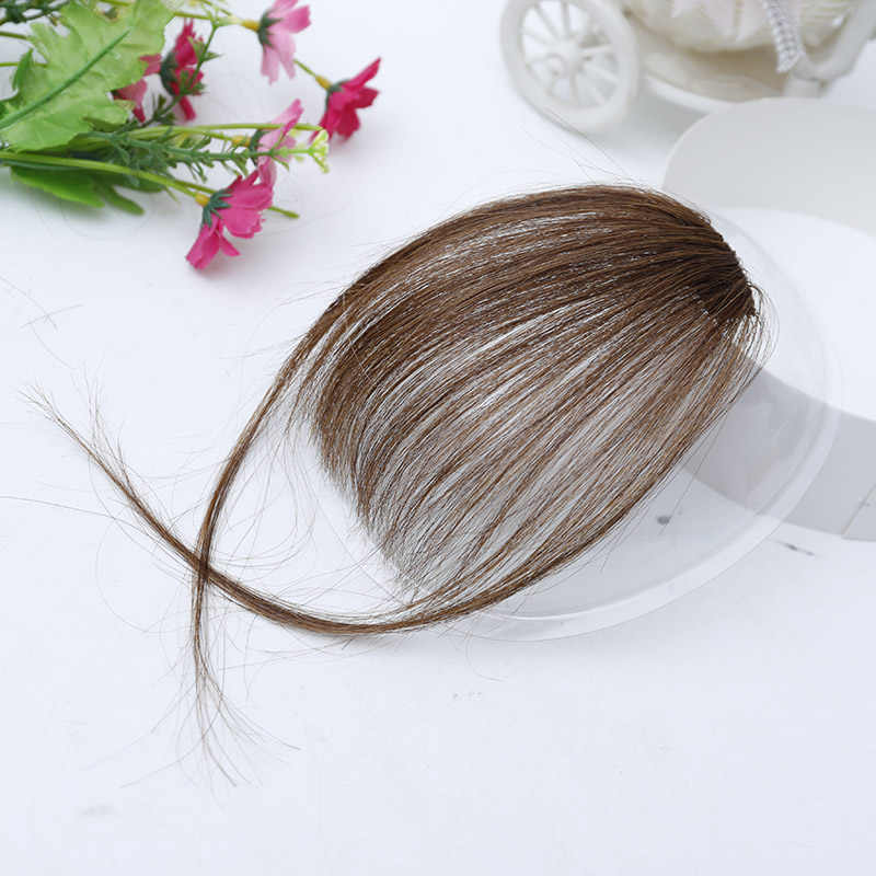 DIFEI челка клип волос черный коричневый блонд поддельные синтетические челки для наращивания волос для женщин