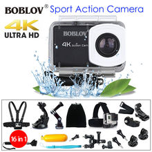 Boblov 4K 12MP HD 1080P 2.45″ LCD WIFI DVR Sports Action Helmet Camera Waterproof Camcorder + 16in1 Accessories Kit