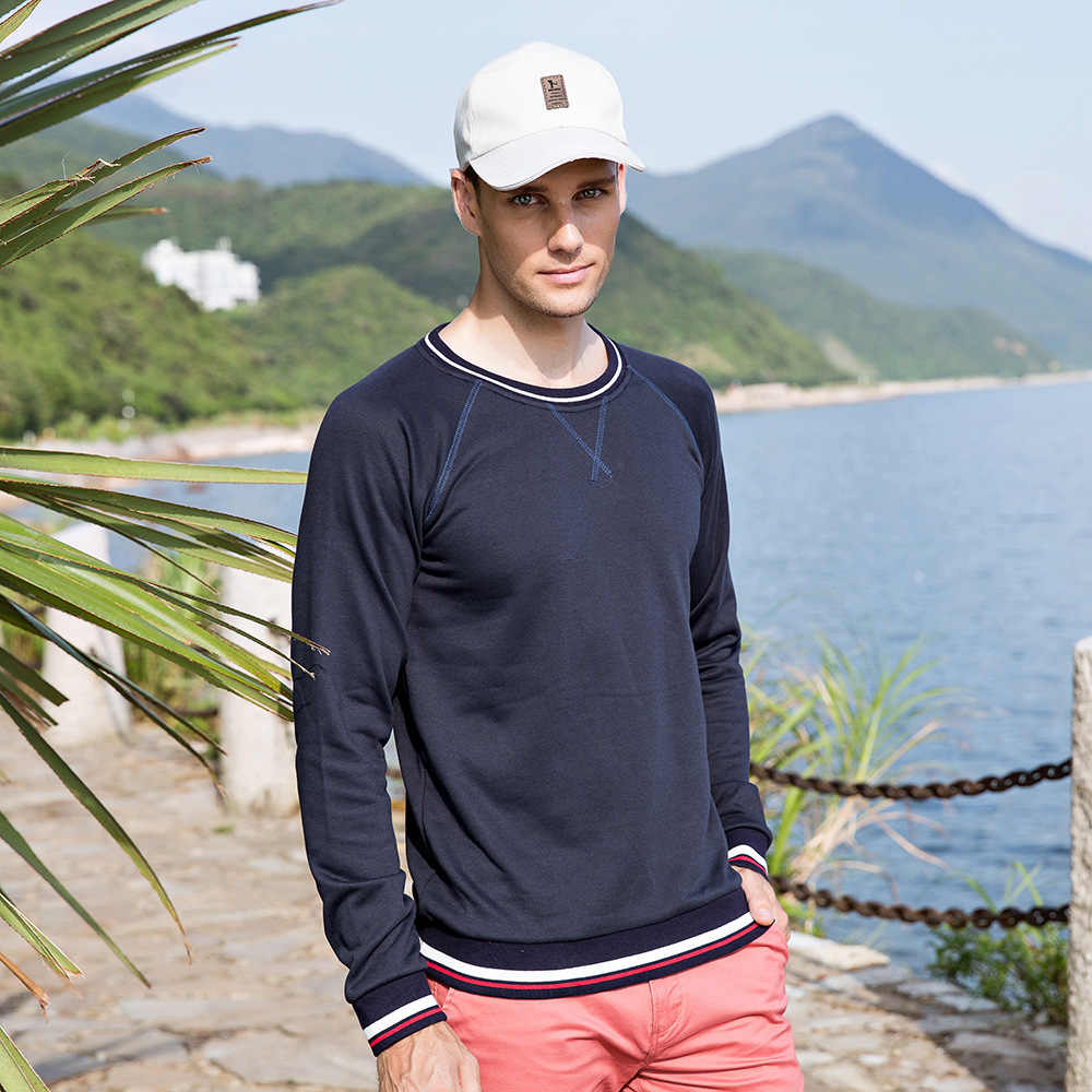 Fredd Marshall Men's Regular-Fit Long-Sleeve T-Shirt Cotton High Quality Tshirt Men Fashion Solid Color Tee Shirt For Men 733