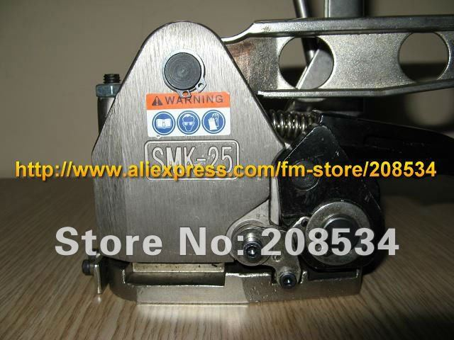 Купить с кэшбэком Wholesale SMK-25 Manual sealless combination steel strapping Tool, Metal without Seals Strapping Bander Machine for 13-25mm