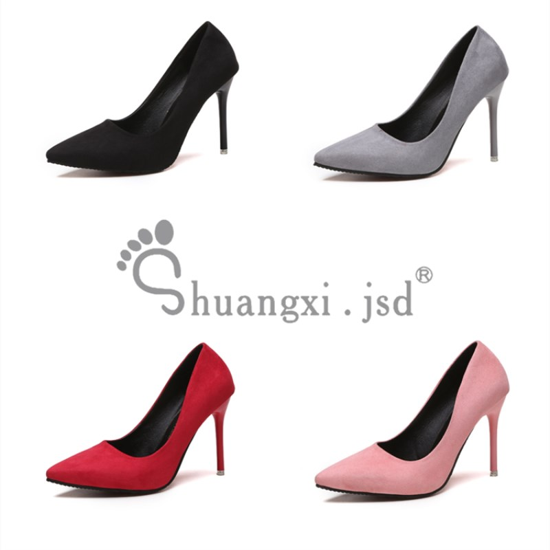 Shuangxi.jsd 2019 Autumn New Pumps Women <font><b>Shoes</b></font> Shallow Mouth Black <font><b>Sexy</b></font> Fine with High heels Career Ladies <font><b>Shoes</b></font> <font><b>Size</b></font> 34-40 image