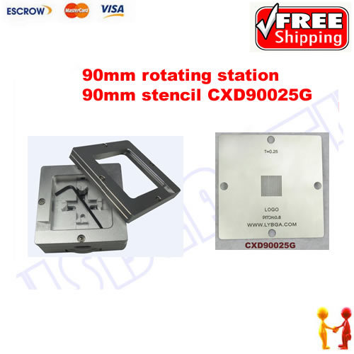 Freeshipping. BGA Reballing 90mm * 90mm PS4 Stencil CXD90025G 0.25mm + 90mm reballing station freeshipping 100% new intel 82801hbm ic chipset with bga stencil 90mm nh82801hbm