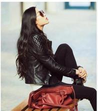 2019 Leather Jacket Women Slim Short  Motorcycle Autumn Winter Coat Brand Streetwear Outwear K537