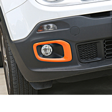 Lsrtw2017 Abs Car Daylight Trims Front Foglight Cover Engine Hood Side Light for Jeep Renegade