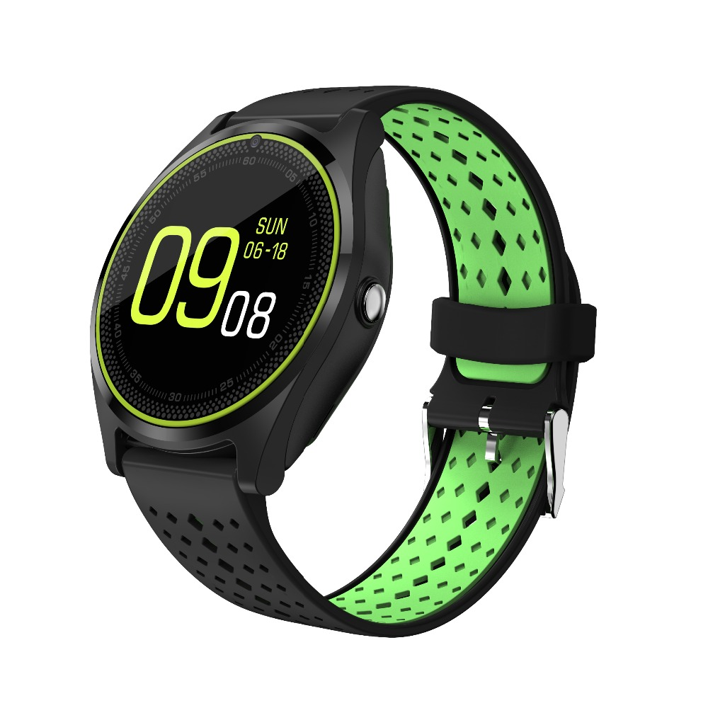 RsFow Bluetooth Smart Watch V9 suppport 2G SIM TF card With Camera Pedometer Health Sport MP3