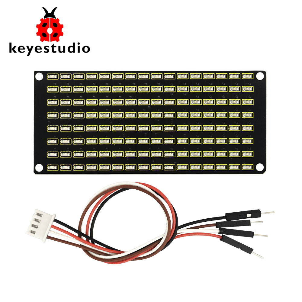 Keyestudio 8x16 LED Dot Matrix Board Module With PH 2.54 Connector +4Pin Cable For Arduino