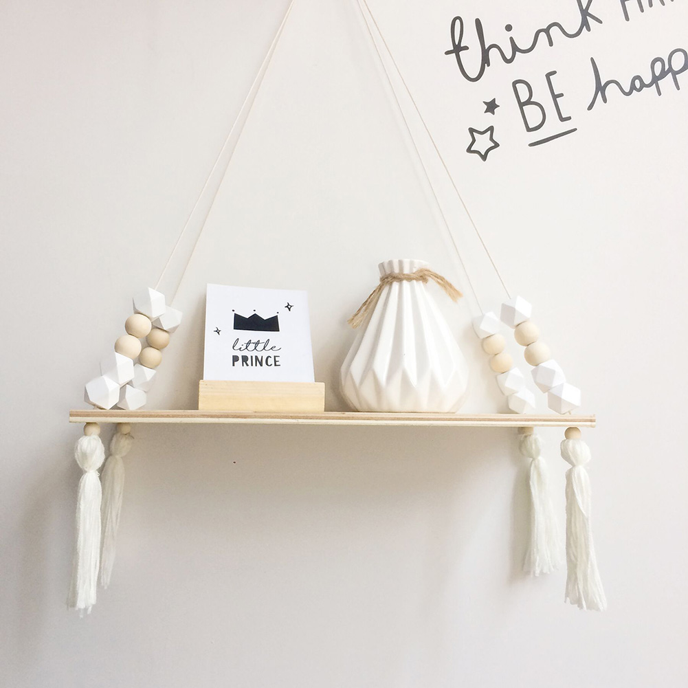 Shelves Clapboard Wall Hanging Tassel Decoration Gifts Swing Rope For Children Room Party Home Essential FPing