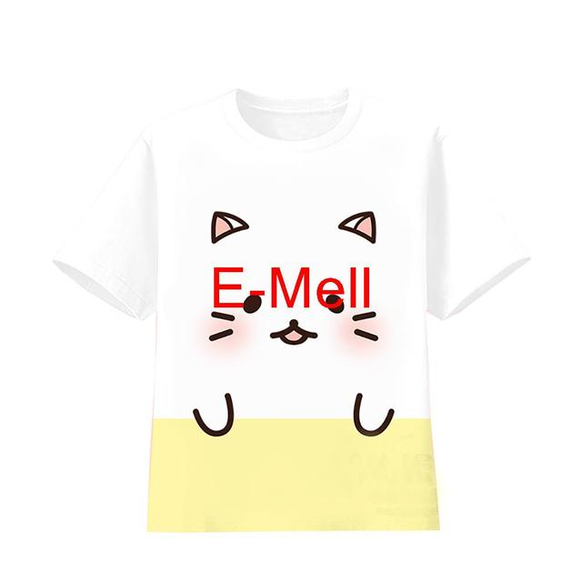 Cosplay cute Bananya Logo Cotton Casual T-Shirt Coat Summer Wear Tops Short-Sleeved Tee Shirt