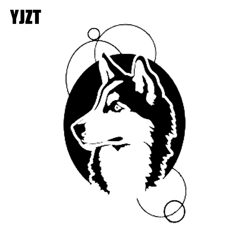 Discount Yjzt 8 1cm13cm Husky Malamute Dog Vinyl Car Sticker Decals