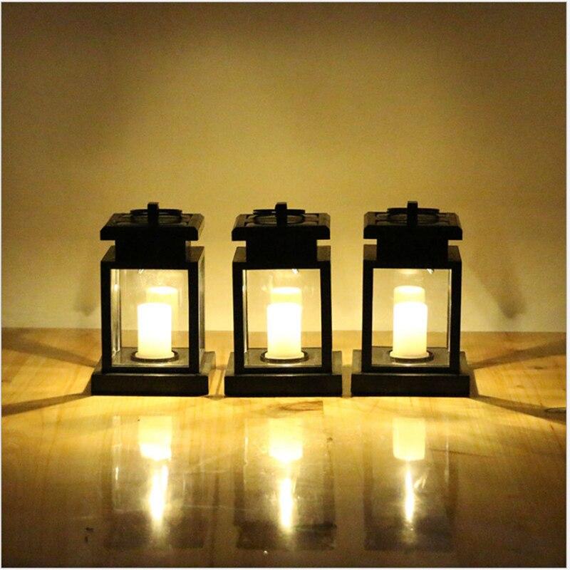 Abs Ip44 Outdoor Led Solar Kerze Lampe Alte Und Klassischen Draht Freies 0,1 Watt Licht Sensor Auto Control Wasserdicht Garten Licht Licht & Beleuchtung Led Outdoor-wandlampe