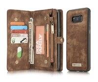Caseme Retro Vintage PU Leather Case Stand Wallet Case Credit Card Slots Holder Cover For Samsung