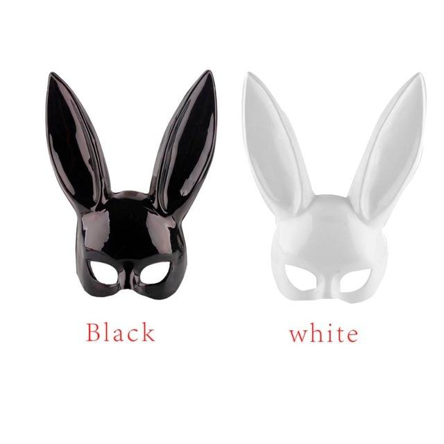 2 Farben Frauen Mädchen Niedliche Hasenohren Maske Sexy Halloween ...