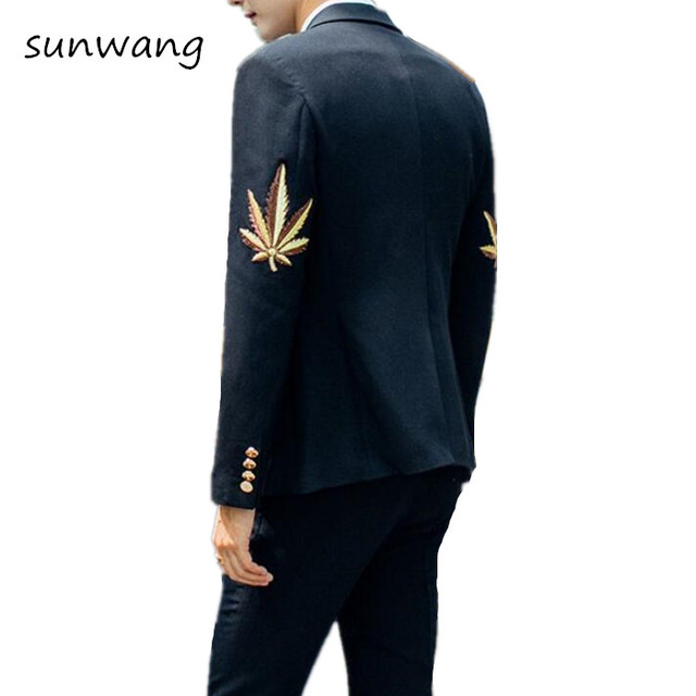 Aliexpress.com : Buy New Brand Mens Prom Suits formal Floral ...
